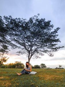 read under tree